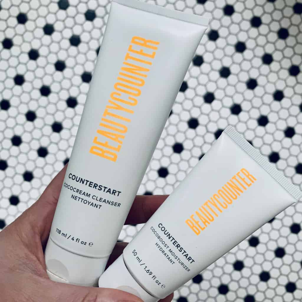 My Top 5 Go-To Beautycounter Products: Skincare, tubes of counterstart cocoboost moisturizer and cococream cleanser