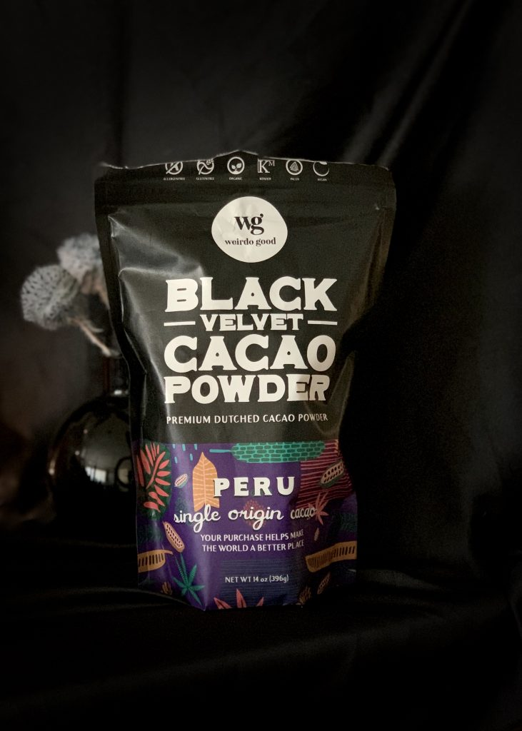 Wierdo Good is my recommended black cocoa powder